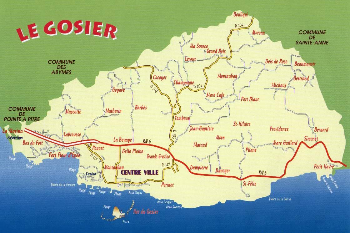 Carte du GOSIER